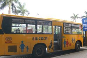 タンソンニャット空港からホテルまで快適なバス旅を!